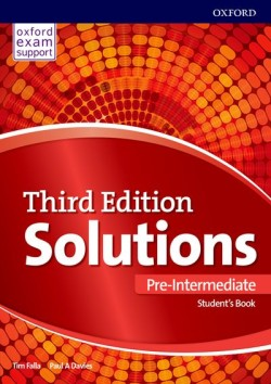 Solutions 3rd Edition Pre-intermediate Student's Book International Edition