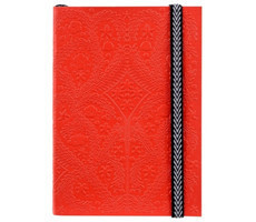 B5 Paseo Embossed Notebook Scarlet