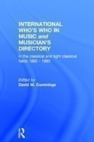 Intl Whos Who Music&Ency Ed13