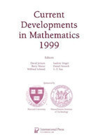 Current Developments in Mathematics 1999