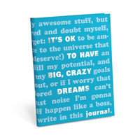 Knock Knock It's OK to Have Big, Crazy Dreams Journal
