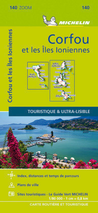 Corfu & the Ionian Islands - Michelin Zoom Map 140