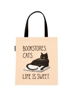 Taška Bookstore Cats tote bag