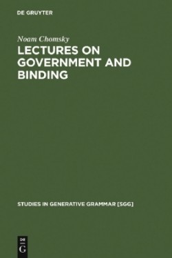 Lectures on Government and Binding: the Pisa Lectures